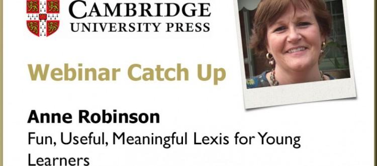 Anne Robinson Cambridge University Press