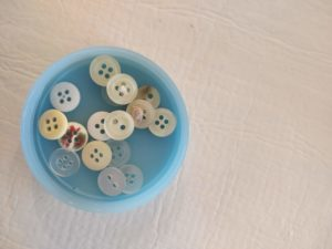 buttons inside a tub